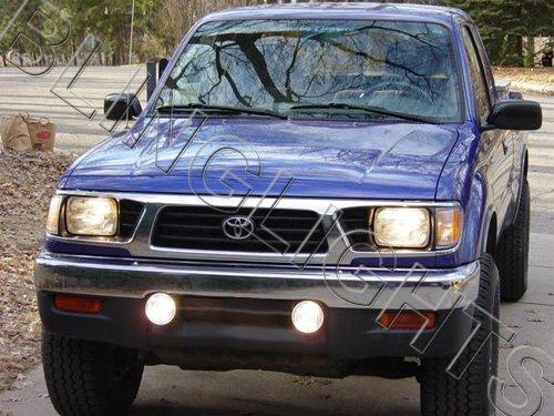 1995 1996 1997 Toyota Tacoma White Halo Bumper Fog Lamps Lights