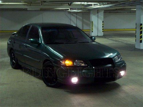 2002 2003 Nissan Sentra Se R White Led Crystal Fog Lamps Driving