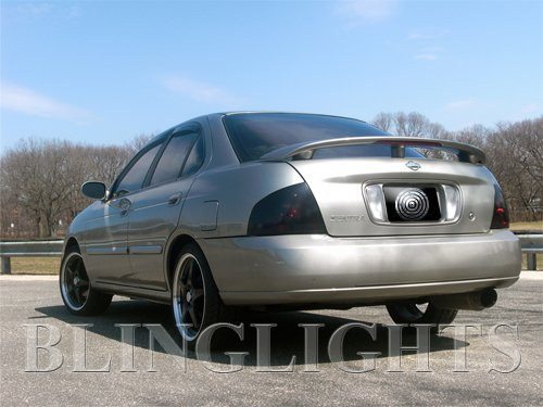 2000 2001 2002 2003 Nissan Sentra Tinted Taillamp Overlay Covers Kit