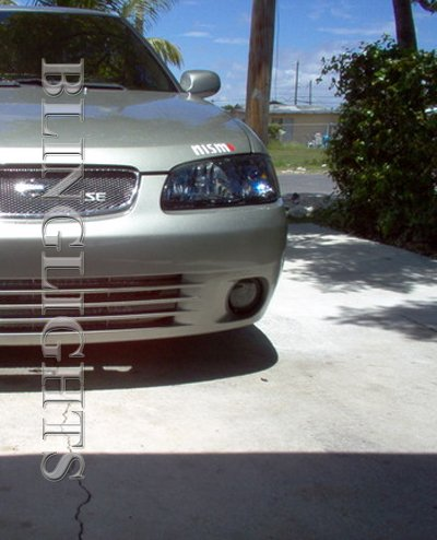 2000 2001 2002 2003 Nissan Sentra Tint Protection Film for Smoked Headlamps Headlights Overlays