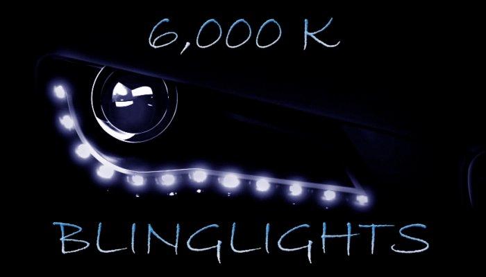 6000K Audi Light Strips LED DRLs Day Time Running Lamps Lights for Headlamps Headlights