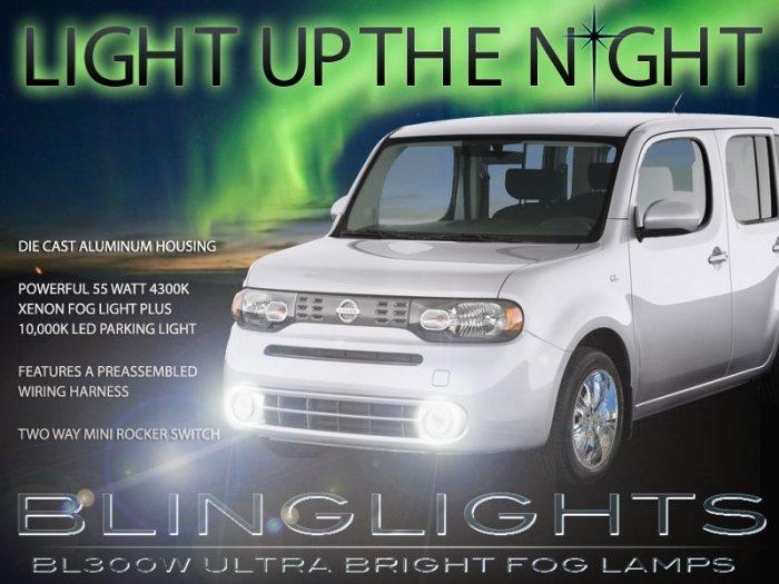 Nissan Cube Fog Lamps + LED Day Time Running Lights Kit drivinglights foglights