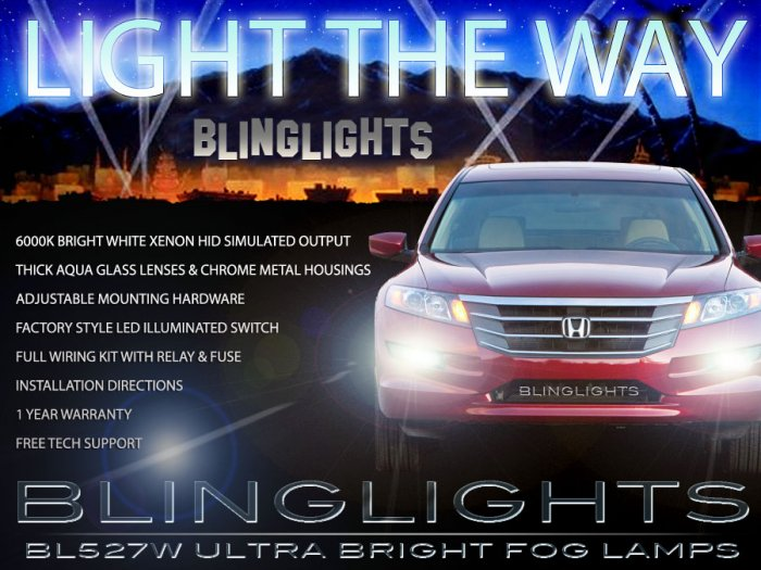 10 11 12 Honda Crosstour Xenon Fog Lamps Driving Lights Foglamps Foglights Kit