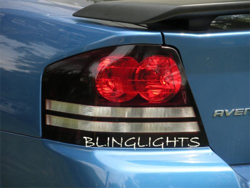 Dodge Avenger Tinted Smoked Taillamps Taillights Overlays Protection Film