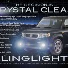 2009 2010 2011 Honda Element SC Blue LED Fog Lamps Driving Lights Kit Bumper