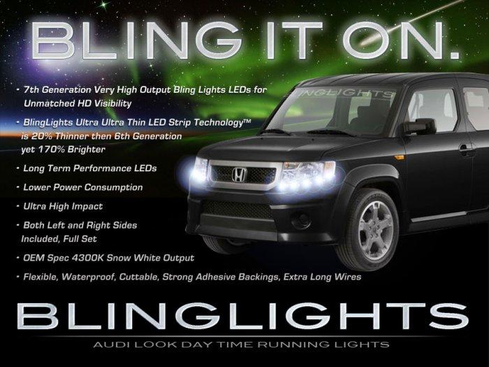 Honda Element LED DRL Head Light Strips Day Time Running Lamp Kit