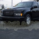 2004-2012 GMC Canyon Tinted Smoked Protection Overlays Film for Headlamps Headlights Head Lamps