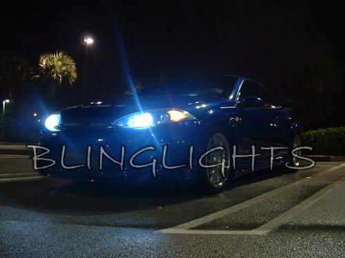 1999 2000 2001 2002 Mercury Cougar White Bulbs for Headlamps Headlights Head Lamps Lights