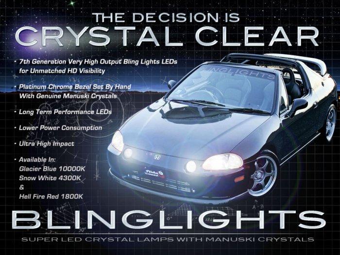 1992-1997 Honda Del Sol LED Fog Lamps Driving Lights Foglamps Foglights Drivinglights Kit