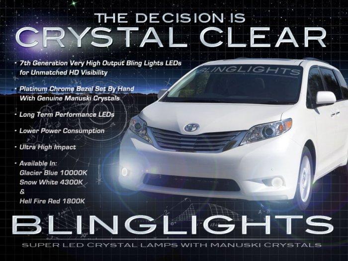2011-2017 Toyota Sienna LED Fog Lamp Light Kit