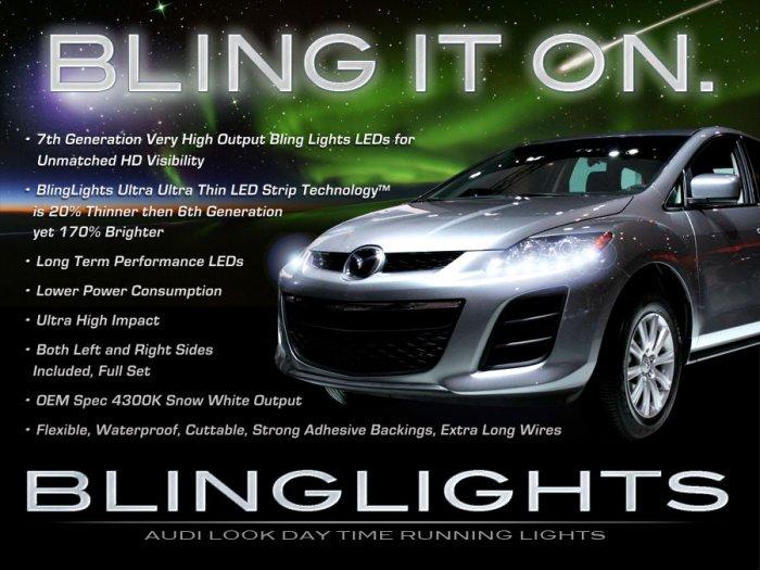 Mazda CX-7 CX-9 LED DRL Head Light Strips Day Time Running Lamp Kit