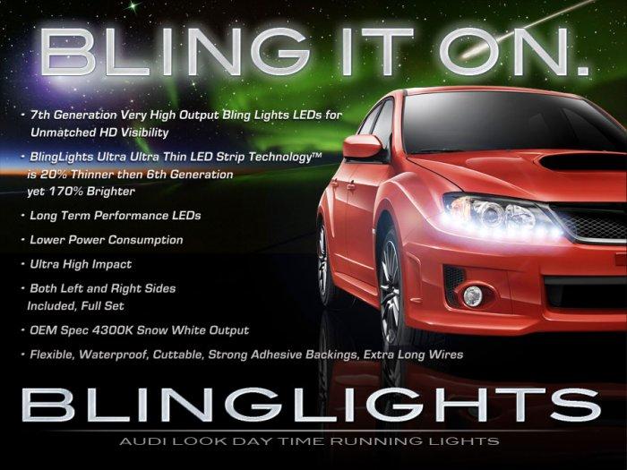 2008-2011 Subaru Impreza LED DRL Head Light Strips Day Time Running Lamp Kit