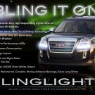 GMC Terrain LED Light Strips HeadLamp Day Time Running Lights Headlight DRL Kit