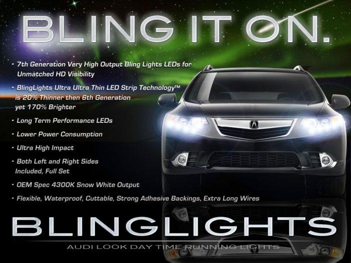 Acura TSX LED DRL Head Light Strips Day Time Running Lamp Kit