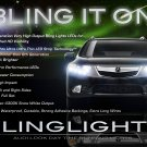 Acura TSX LED DRL Head Light Strips Day Time Running Lamp Kit