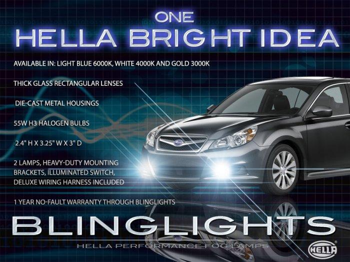 2010 2011 2012 Subaru Legacy Square Xenon Fog Lamps Driving Lights Foglamps Foglights BM BR Kit