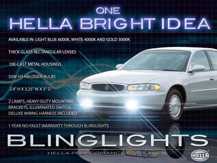 Buick Century Xenon Fog Lamps Driving Lights Foglamps 1997 1998 1999 2000 2001 2002 2003 2004 2005
