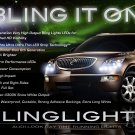 Buick Enclave LED DRL Head Light Strips Day Time Running Lamps Pair