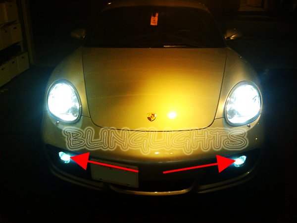2006 2007 2008 Porsche Cayman White Bulbs for Fog Lamps Lights Foglamps Foglights generation 1 987c