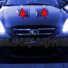 Kia Rondo White LED Strobe Lamps Hood Sprayer Lights Strobes Windshield Bonnet Washers Kit