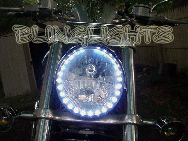 Harley-Davidson VRSC V-Rod LED DRLs for Headlamps Headlights Day Time Running Lights Head Lamps