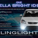 2010 2011 Kia Rio & Rio5 Xenon Fog Lamps Driving Lights Foglamps Foglights Drivinglights Kit