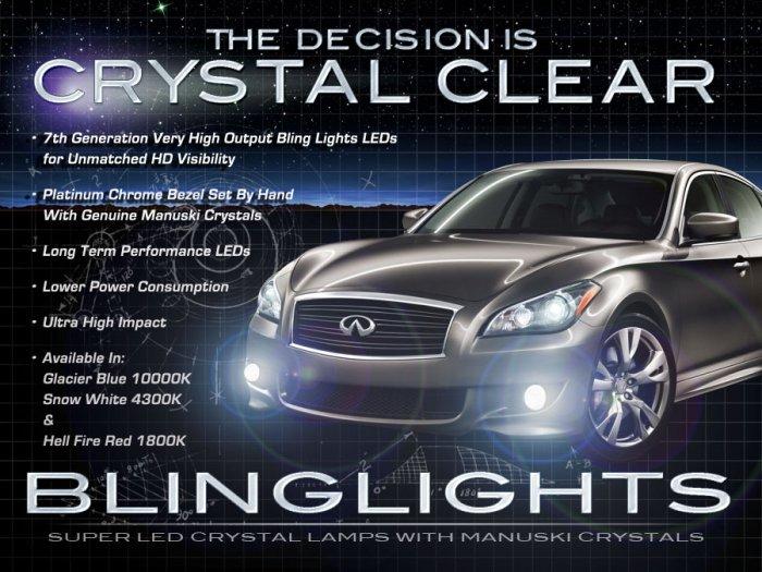 Infiniti M37 M56 S Sport Body LED Fog Lamps Lights Kit Foglamps Foglights Drivinglights