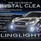 Infiniti M37 M56 S Sport Body LED Fog Lamps Lights Kit Foglamps Foglights Drivinglights