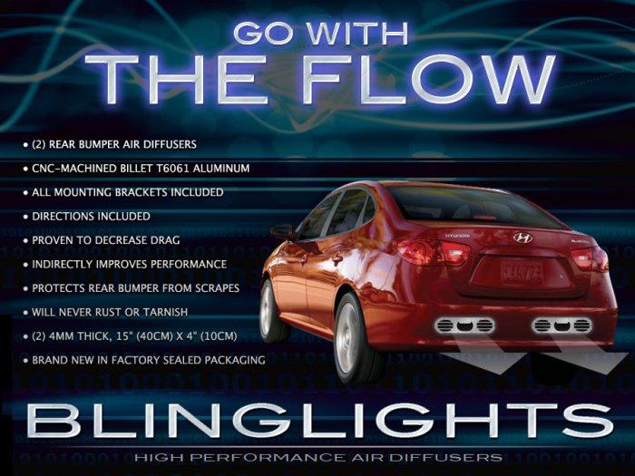 2003-2012 Hyundai Elantra Performance Aero Rear Exhaust Bumper Body Diffuser Panels Kit