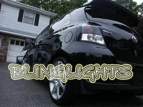 05-11 Toyota Yaris 3dr Tinted Smoked Tail Lamps Lights Overlays Film Protection