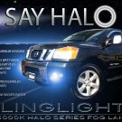 Halo Fog Lamps Driving Lights Kit for 2004-2015 Nissan Titan