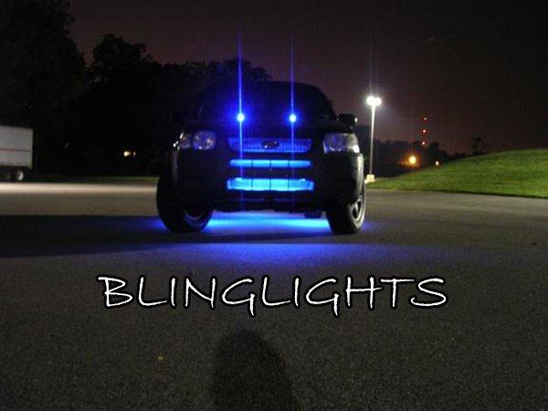 Ford Escape Hood Bonnet LED Washer Spray Nozzle Strobe Lights Windshield Sprayer Strobes Lamps Kit