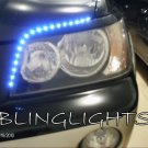 2000-2007 Toyota Kluger LED DRL Strips for Headlamps Headlights Head Lamps Day Time Running Lights
