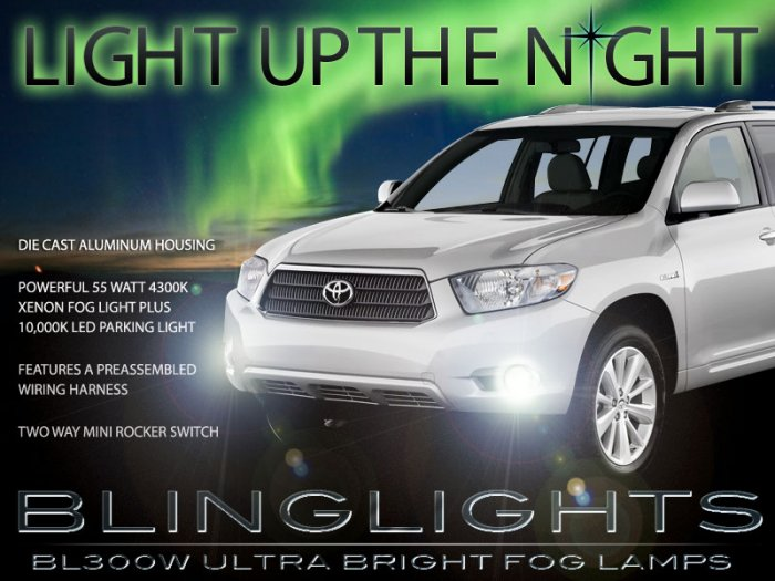 2008 2009 2010 Toyota Highlander Xenon Fog Lamps Driving Lights