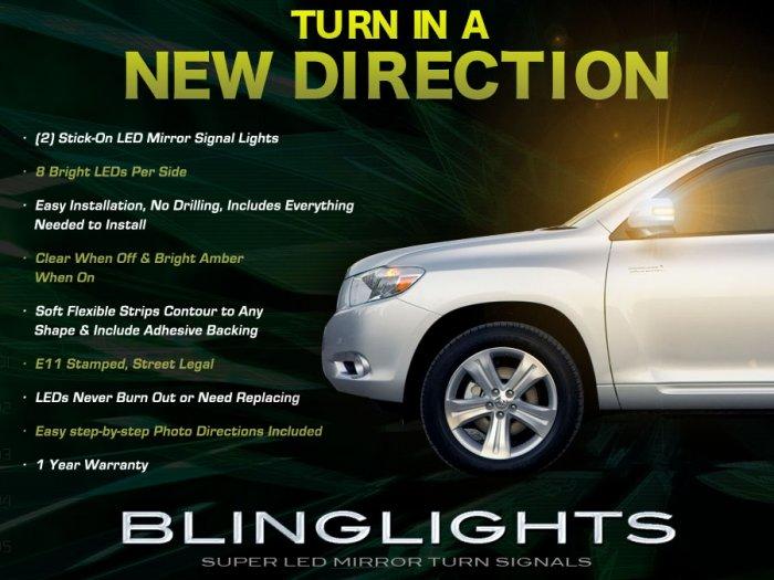 2008 2009 2010 Toyota Highlander LED Mirror Turnsignal Lights