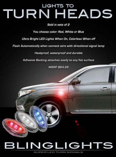 2011 2012 2013 Toyota Highlander LED Side Accent Marker Turnsignal Lights Turn Signal Signaler Lamps