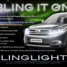 2011 2012 2013 Toyota Highlander LED Strip Day Time Running Lights Headlamp Headlight Head Lamps DRL