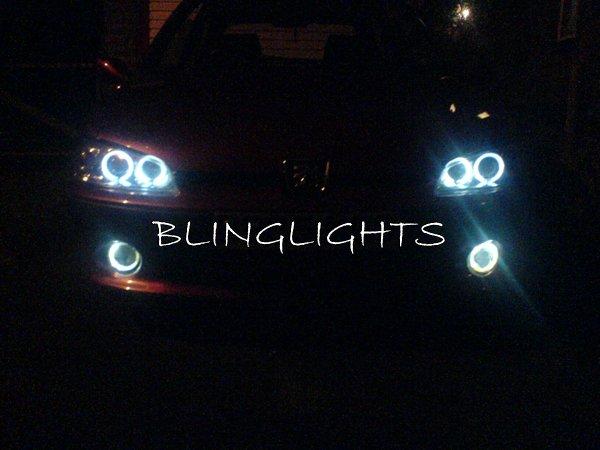 Peugeot 206 206+ Halo Foglamps Angel Eye Fog Lamps Driving Lights Foglights Kit