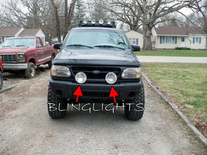 """Ford Explorer Lights Brush Nudge Bar Aux 6"""" Round Offroad Drivinglights Kit"""