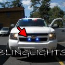 Chevrolet Tahoe LED Grille Police Lights Chevy GMT900 Driving Fog Lamps EMT Kit