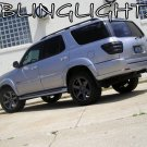 Toyota Sequoia Murdered Out Taillamp Overlays Tinted Taillight Lense Film Covers
