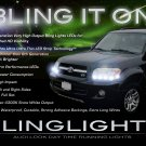 2001-2007 Toyota Sequoia LED DRL Head Light Strips Day Time Running Lamps Set