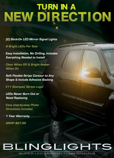 Toyota Sequoia LED Side Mirror Turnsignals Lights