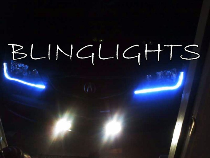 Acura TL LED DRL Light Strips For Headlamps - 2001 acura cl headlights