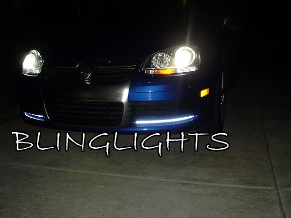 2006-2010 VW Jetta A5 LED DRL Head Lights Strips Day Time Running Lamps Kit Volkswagen