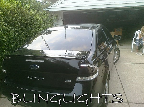 2008-2011 Ford Focus Tinted Smoked Taillamps Taillights Overlays Film Protection