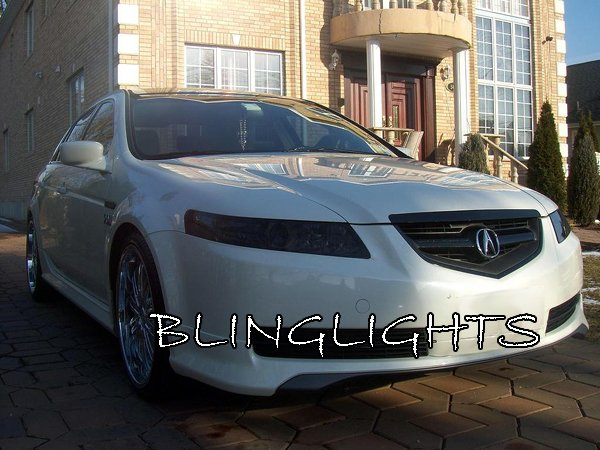 Acura TL Tinted Smoked Headlamps Headlights Overlays Film - 2004 acura tl headlight