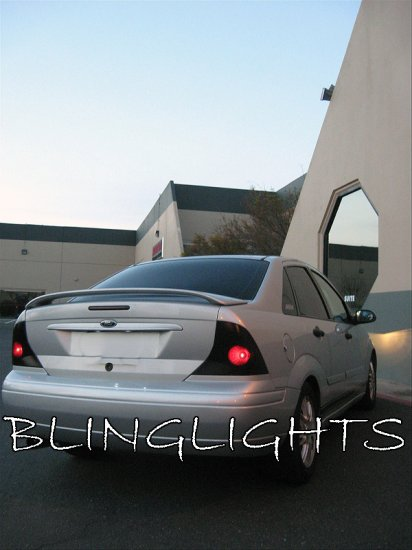 2000-2004 Ford Focus Sedan Tint Smoke Tail Lights Lamps Overlays Film Protection
