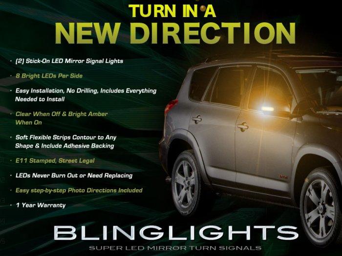 Toyota Rav4 Side Mirror LED Turnsignal Lights Blinker Lamp Addon