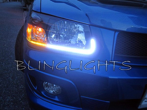 2003-2008 Subaru Forester LED DRL Head Lamp Light Strips Kit
